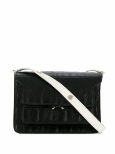 Marni Truck crocodile effect shoulder bag - Black