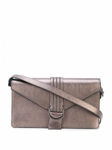 Brunello Cucinelli foldover top shoulder bag - Grey