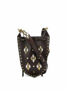 Isabel Marant studded bucket bag - Brown