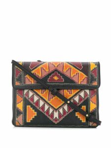 Etro Aztec print cross body bag - Brown