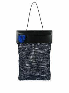 Jil Sander fishnet tote bag - Blue
