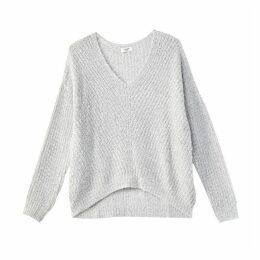 Fine Knit V-Neck Jumper