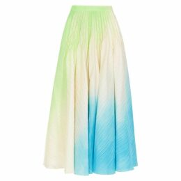 Roksanda Ambra Paint-effect Satin Midi Skirt