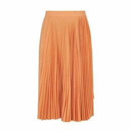 Acne Studios Orange Pleated Midi Skirt