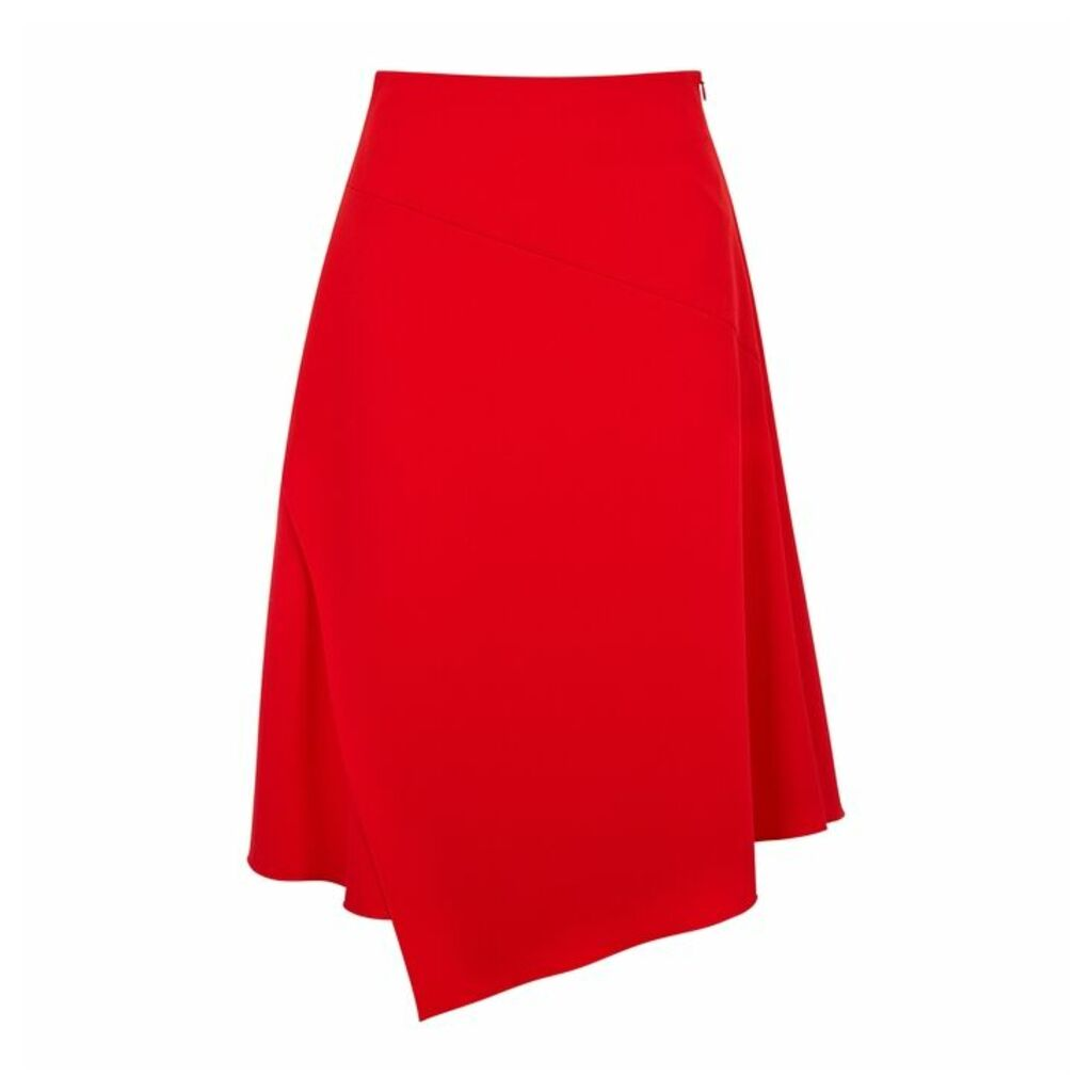 BOSS Red Stretch-cady Midi Skirt