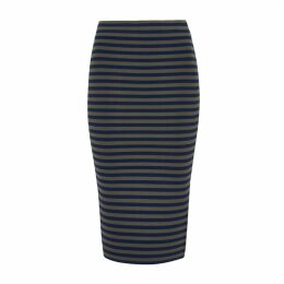 Good American Striped Jersey Pencil Skirt