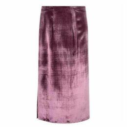 Vince Velvet Wrap Skirt