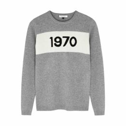 BELLA FREUD 1970 Grey Cashmere Jumper