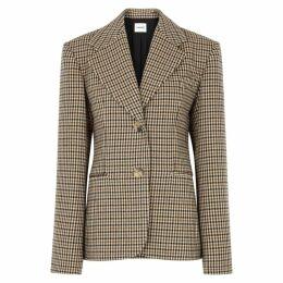 Khaite Kendall Checked Wool-blend Blazer