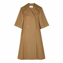 Chloé Camel Double-breasted Wool-blend Coat