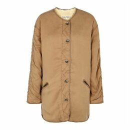 Free People Ivy Reversible Camel Twill Jacket