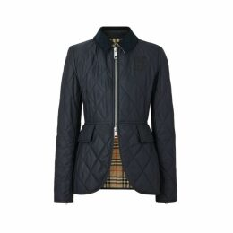 Burberry Monogram Motif Quilted Riding Jacket