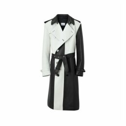 Burberry Panelled Plonge Leather Trench Coat