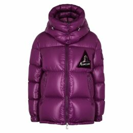 Moncler Wilson Purple Quilted Shell Jacket