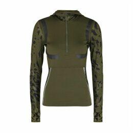 Adidas X Stella McCartney Leopard-print Stretch-jersey Jacket
