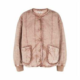 Free People Mixed Signals Blush Cotton Jacket