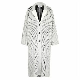 3.1 Phillip Lim Monochrome Distressed Knitted Coat