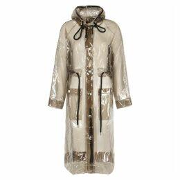 Proenza Schouler Translucent Grey Rubberised Raincoat