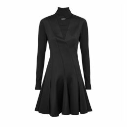 Off-White Black Panelled Neoprene Dress