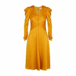 Jonathan Simkhai Yellow Satin Midi Dress