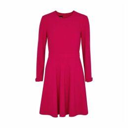 Boutique Moschino Fuchsia Stretch-crepe Mini Dress