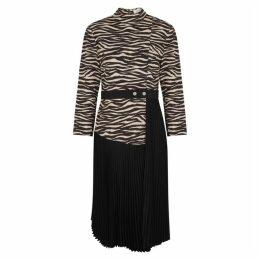 A.L.C. Peyton Zebra-print Midi Dress