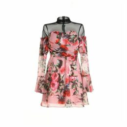 Comino Couture London Everythings Coming Up Roses Mini Dress