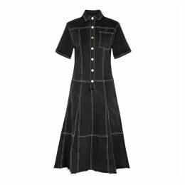 Proenza Schouler Black Denim Shirt Dress