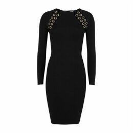 Good American Black Cut-out Jersey Dress