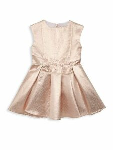 Little Girl's Embellished Metallic Flare Dress