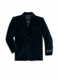 Little Boy's & Boy's Velvet Sportcoat