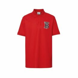 Burberry Monogram Motif Cotton Pique Oversized Polo Shirt
