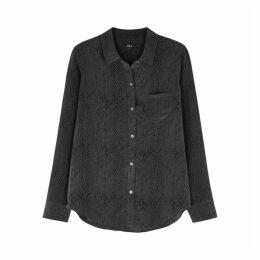 Rails Kate Snake-print Silk Shirt