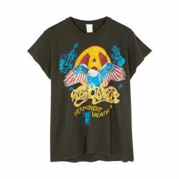 MadeWorn Aerosmith Permanent Vacation Printed Cotton T-shirt