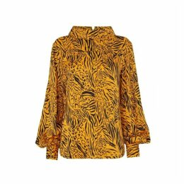 Kitri Beatrix Animal Print Top