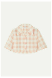 alice McCALL - Pink Moon Cropped Gingham Cotton-blend Shirt - UK14