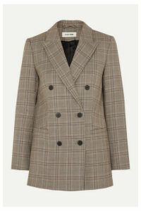 Cefinn - Prince Of Wales Checked Woven Blazer - Brown