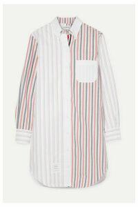 Thom Browne - Striped Cotton-poplin Mini Dress - White