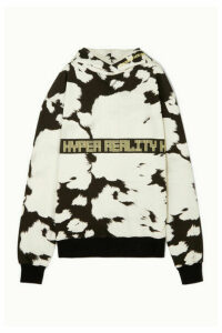 House of Holland - Oversized Embroidered Printed Cotton-jersey Hoodie - White