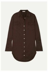 The Line By K - Roe Cotton-poplin Shirt Dress - Brown