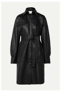 REMAIN Birger Christensen - Bologna Belted Leather Dress - Black