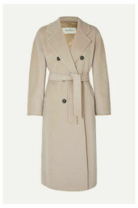 Max Mara - Madame Belted Double-breasted Wool And Cashmere-blend Coat - Beige