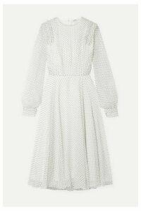 Jason Wu - Ruffled Polka-dot Silk-voile Midi Dress - White