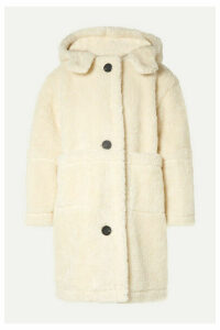 SEA - Sonnet Oversized Hooded Faux Shearling Coat - Cream