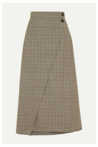 Cefinn - Layla Prince Of Wales Checked Woven Midi Skirt - Brown