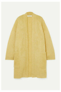 Max Mara - Sampang Oversized Mohair-blend Cardigan - Yellow