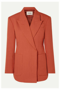 we11done - Double-breasted Woven Blazer - Orange