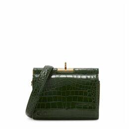 GU DE Gemma Green Leather Shoulder Bag
