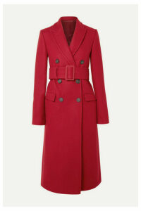 Helmut Lang - Double-breasted Wool-blend Coat - Red