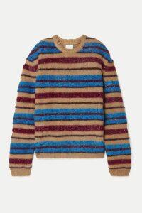 Ashish - Oversized Metallic Striped Knitted Sweater - Blue